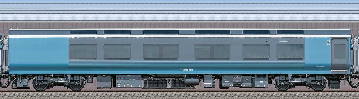 JR東日本E261系「サフィール踊り子」モロE260-102海側の側面写真