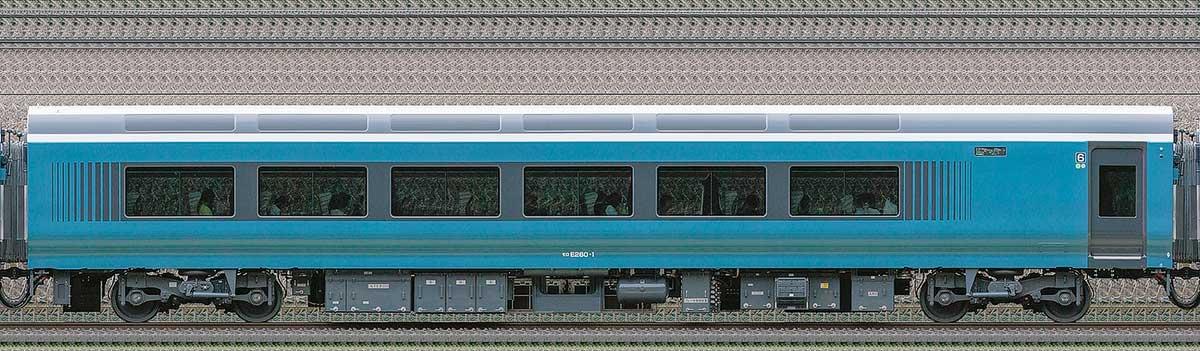 JR東日本E261系「サフィール踊り子」モロE260-1海側の側面写真