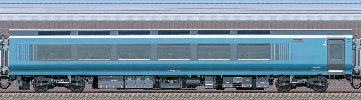 JR東日本E261系「サフィール踊り子」モロE260-2海側の側面写真