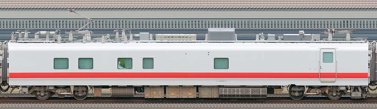 JR東日本E491系「East i-E」モヤE490-1山側の側面写真