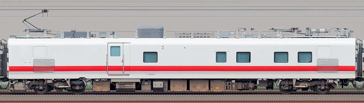 JR東日本E491系「East i-E」モヤE490-1海側の側面写真