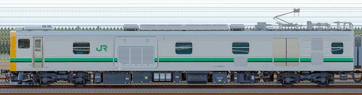 JR東日本E493系クモヤE493-1山側の側面写真