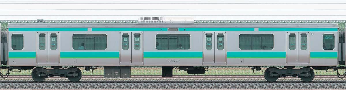 JR東日本E231系サハE231-142山側の側面写真