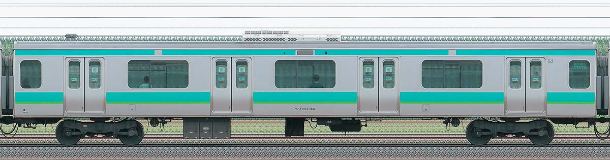 JR東日本E231系サハE231-144山側の側面写真