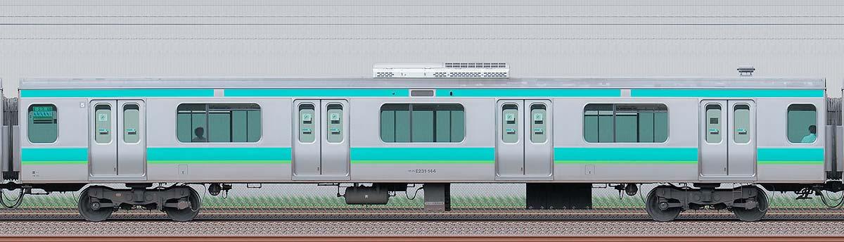 JR東日本E231系サハE231-144海側の側面写真