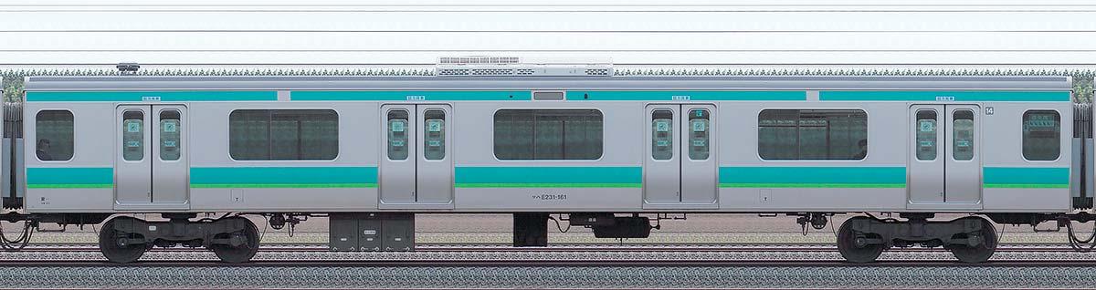 JR東日本E231系サハE231-161山側の側面写真