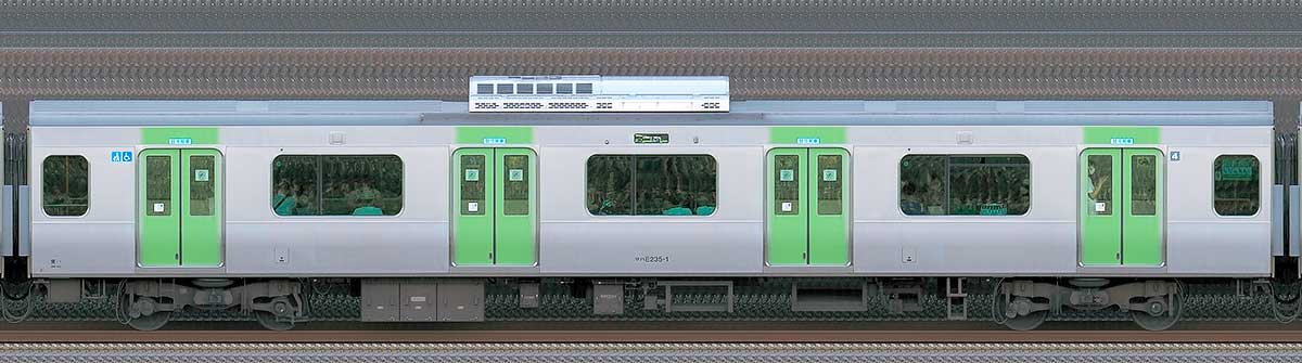 JR東日本E235系サハE235-1山側(東京駅基準)の側面写真