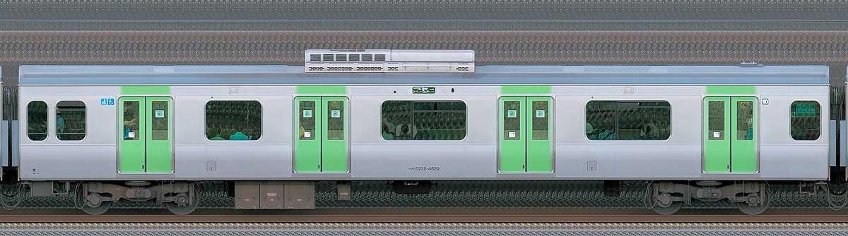 JR東日本E235系サハE235-4620山側(東京駅基準)の側面写真
