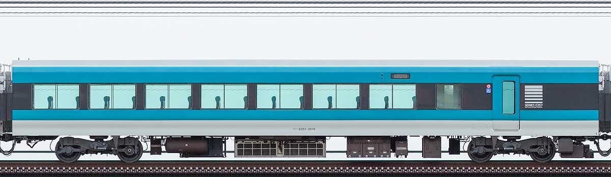JR東日本E257系サハE257-2016山側の側面写真