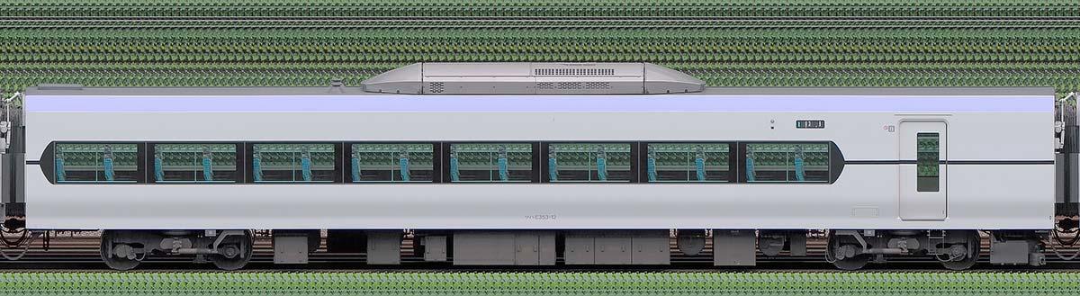 JR東日本E353系サハE353-12山側の側面写真