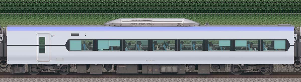JR東日本E353系サハE353-12海側の側面写真