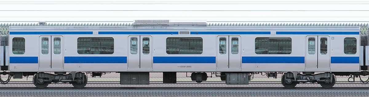 JR東日本E531系サハE530-2005山側の側面写真