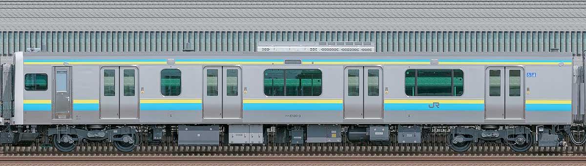 JR東日本E131系クハE130-3海側の側面写真
