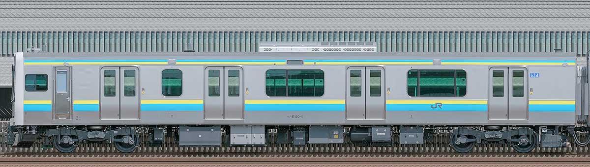 JR東日本E131系クハE130-4海側の側面写真