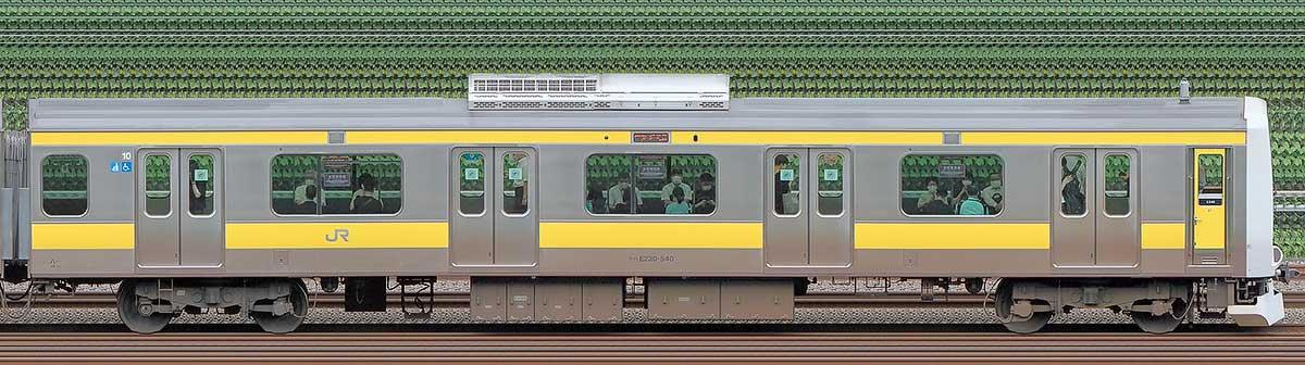 JR東日本E231系クハE230-540山側の側面写真