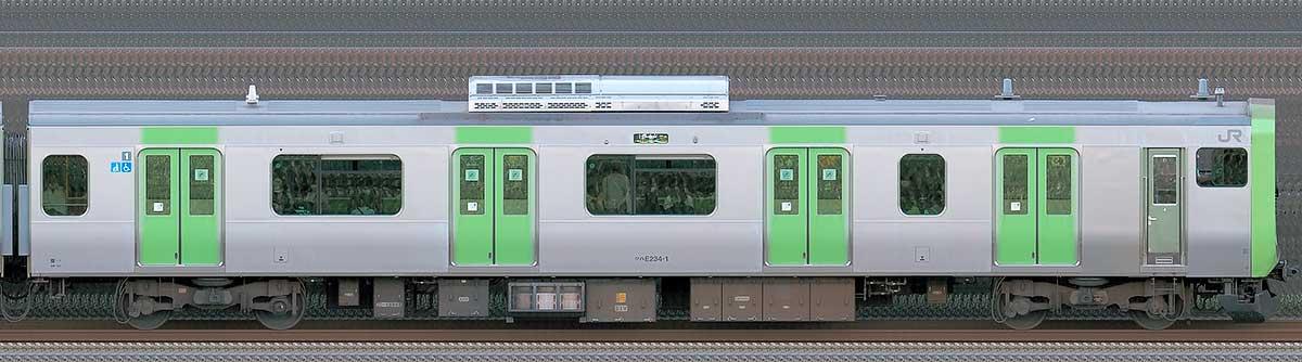 JR東日本E235系クハE234-1山側(東京駅基準)の側面写真