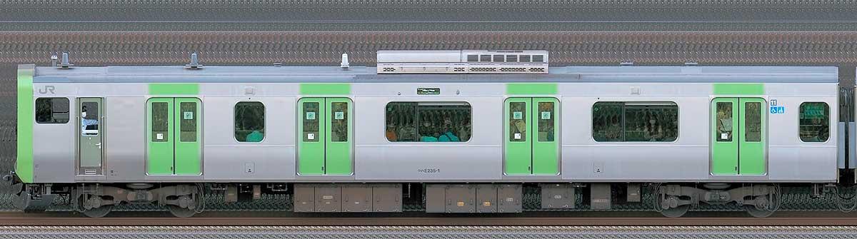 JR東日本E235系クハE235-1山側(東京駅基準)の側面写真