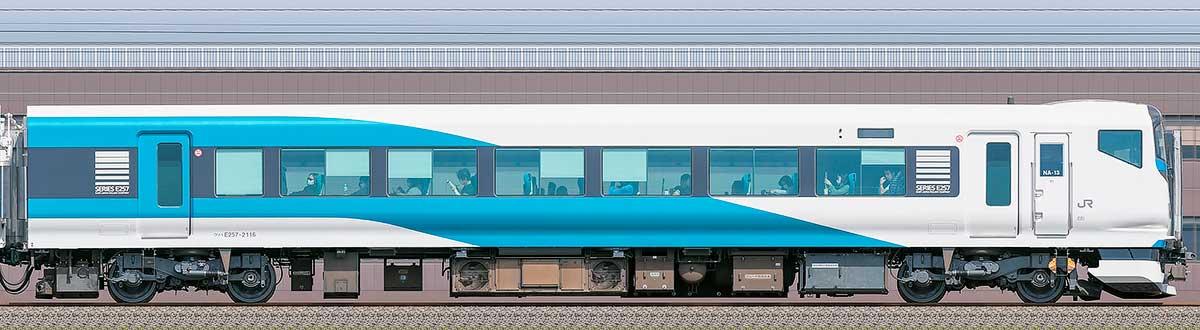 JR東日本E257系クハE257-2116海側の側面写真