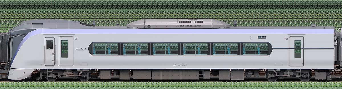 JR東日本E353系クハE353-12山側の側面写真