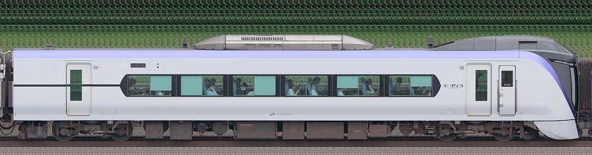 JR東日本E353系クハE353-6海側の側面写真