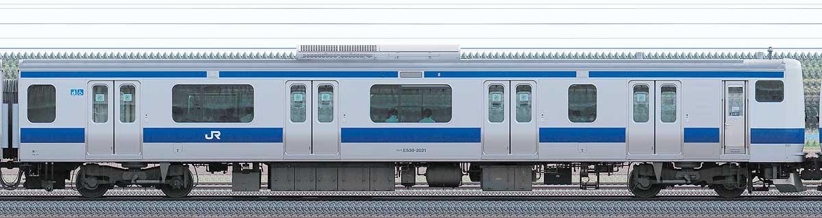 JR東日本E531系クハE530-2021山側の側面写真