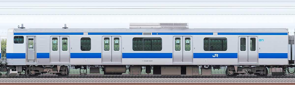 JR東日本E531系クハE530-2021海側の側面写真