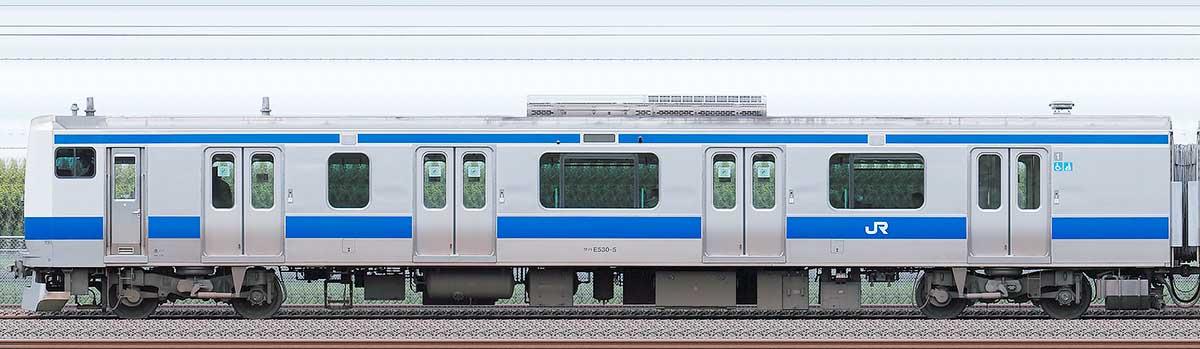 JR東日本E531系クハE530-5海側の側面写真