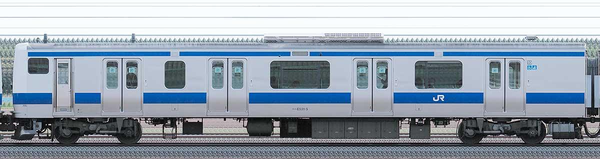 JR東日本E531系クハE531-5山側の側面写真