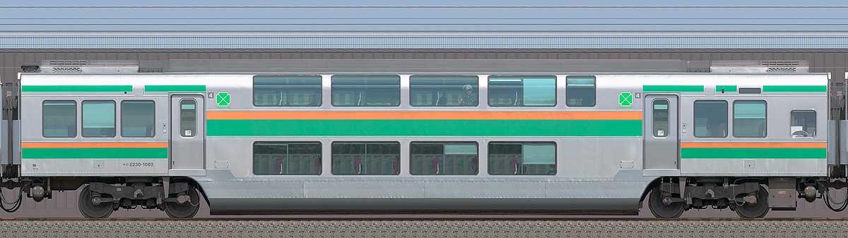 JR東日本E231系サロE230-1062海側の側面写真