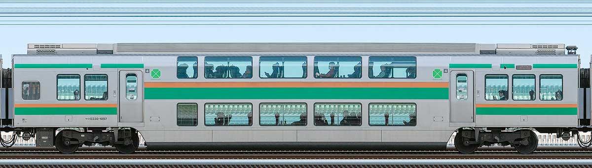 JR東日本E231系サロE230-1087山側の側面写真