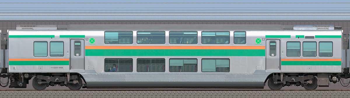 JR東日本E231系サロE231-1062海側の側面写真