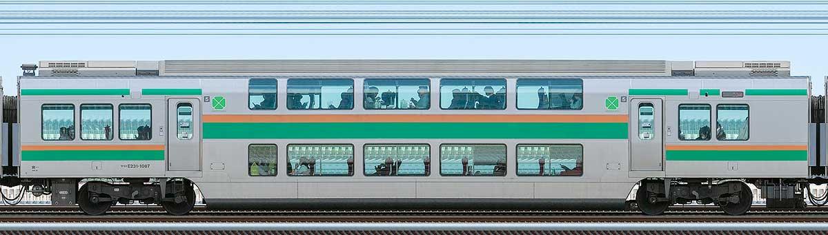JR東日本E231系サロE231-1087山側の側面写真