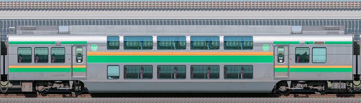 JR東日本E233系3000番台サロE233-3030山側の側面写真