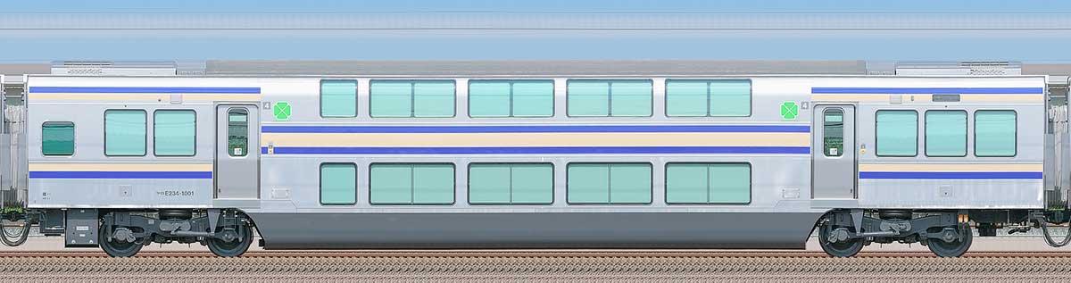 JR東日本E235系1000番台サロE234-1001山側の側面写真