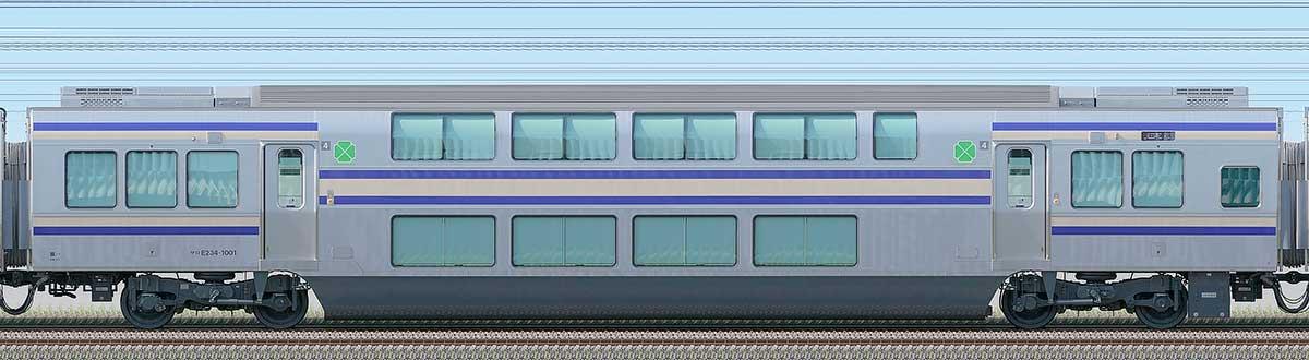 JR東日本E235系1000番台サロE234-1001海側の側面写真