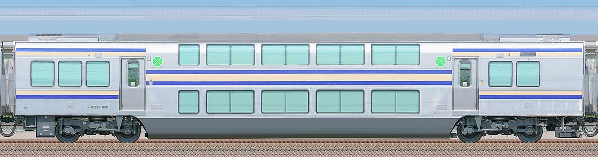 JR東日本E235系1000番台サロE235-1001山側の側面写真