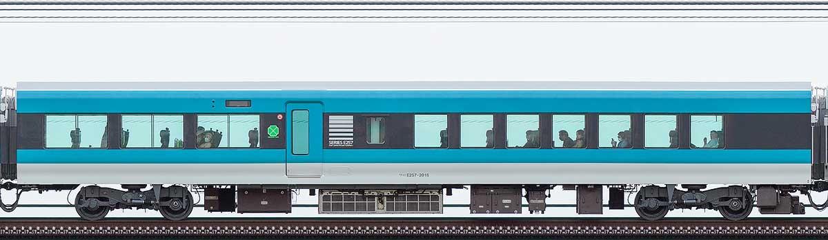 JR東日本E257系サロE257-2016山側の側面写真