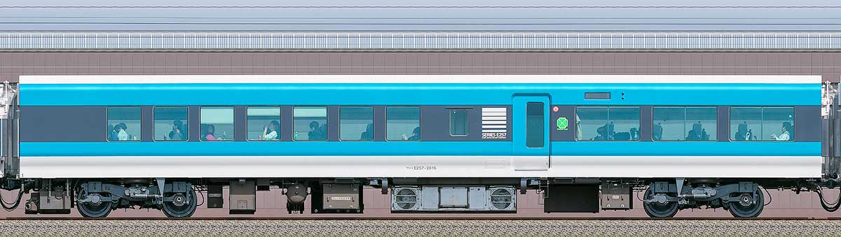 JR東日本E257系サロE257-2016海側の側面写真