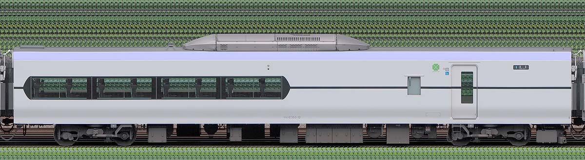 JR東日本E353系サロE353-12山側の側面写真