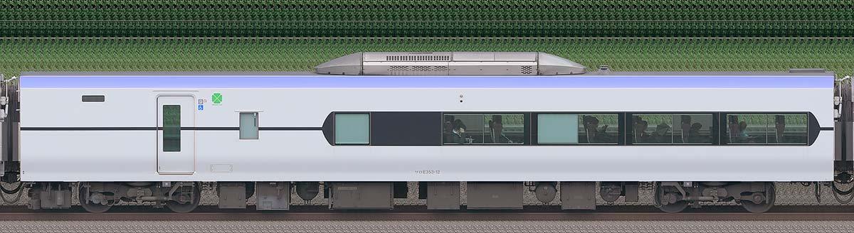 JR東日本E353系サロE353-12海側の側面写真