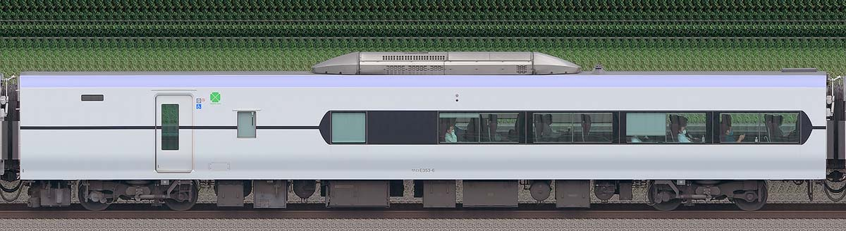 JR東日本E353系サロE353-6海側の側面写真