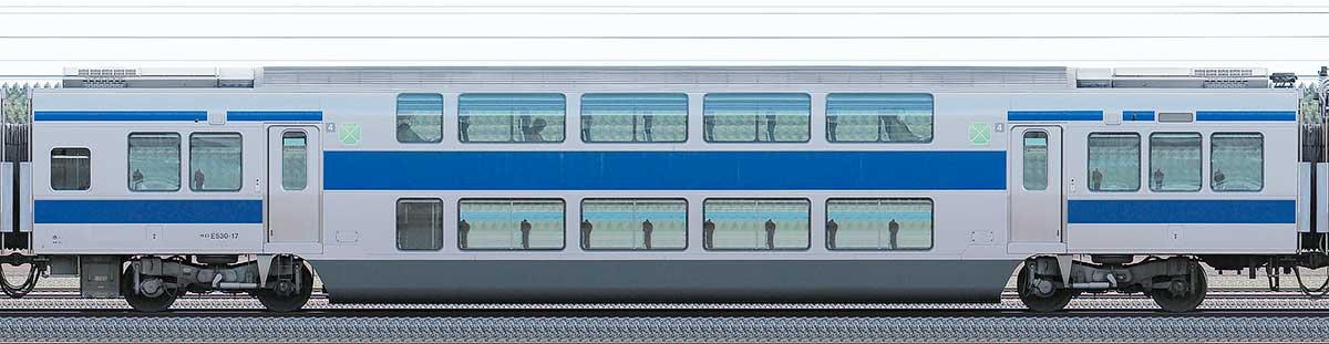 JR東日本E531系サロE530-17山側の側面写真