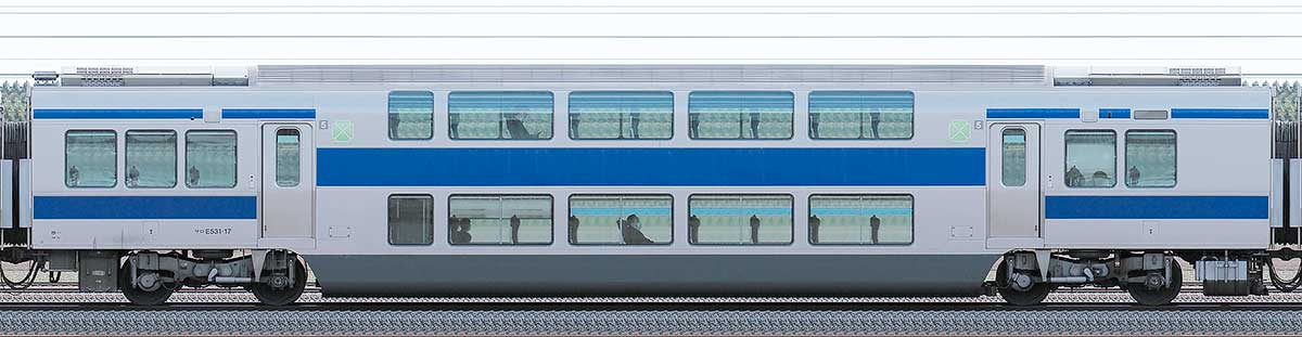 JR東日本E531系サロE531-17山側の側面写真