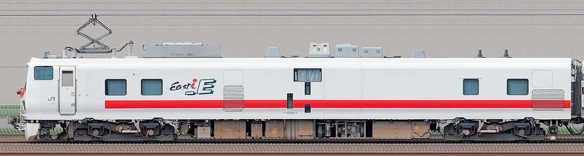 JR東日本E491系「East i-E」クヤE490-1海側の側面写真