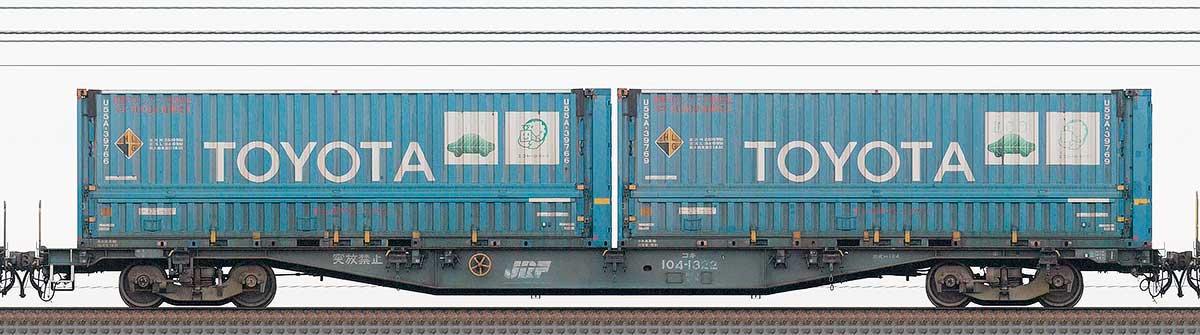 JR貨物コキ100系コキ104-13221-3位の側面写真