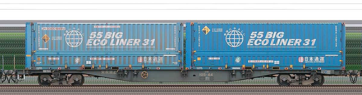 JR貨物コキ100系コキ105-441-3位の側面写真