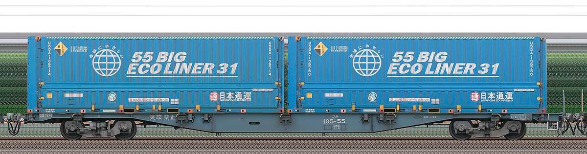 JR貨物コキ100系コキ105-552-4位の側面写真