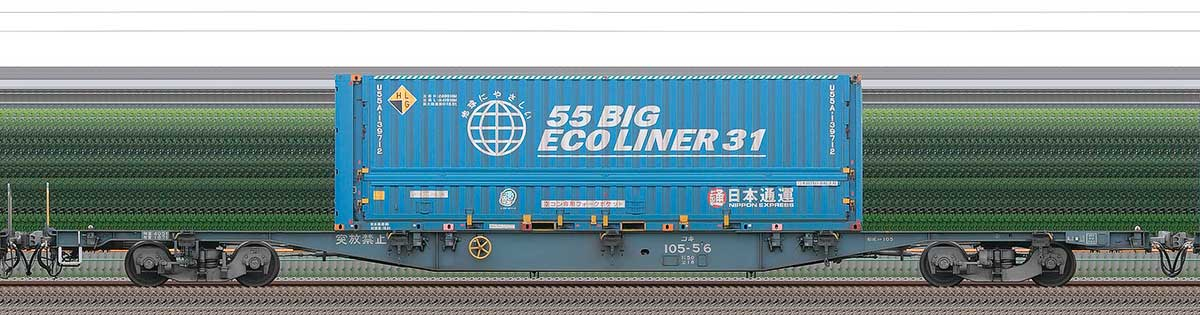 JR貨物コキ100系コキ105-561-3位の側面写真