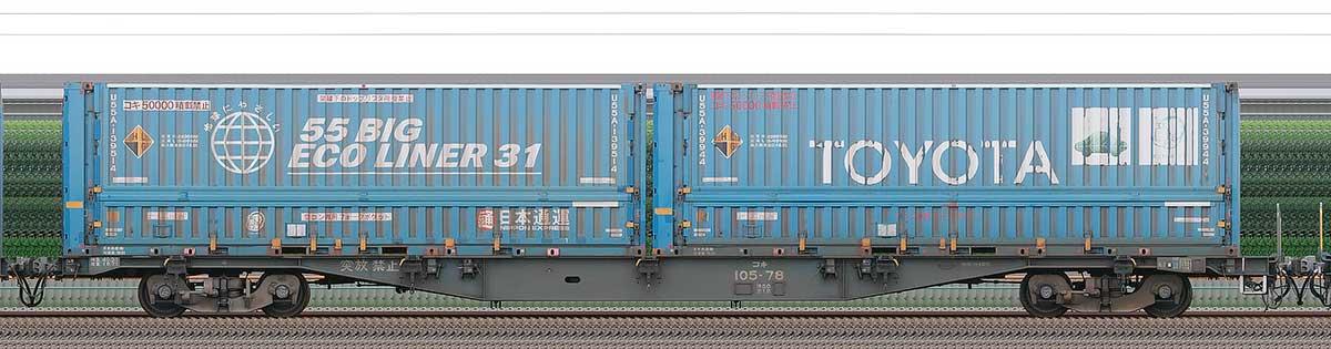 JR貨物コキ100系コキ105-782-4位の側面写真