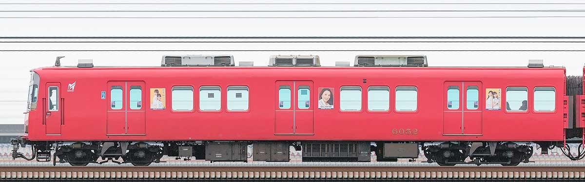 名鉄6000系(10次車)ク6052山側の側面写真